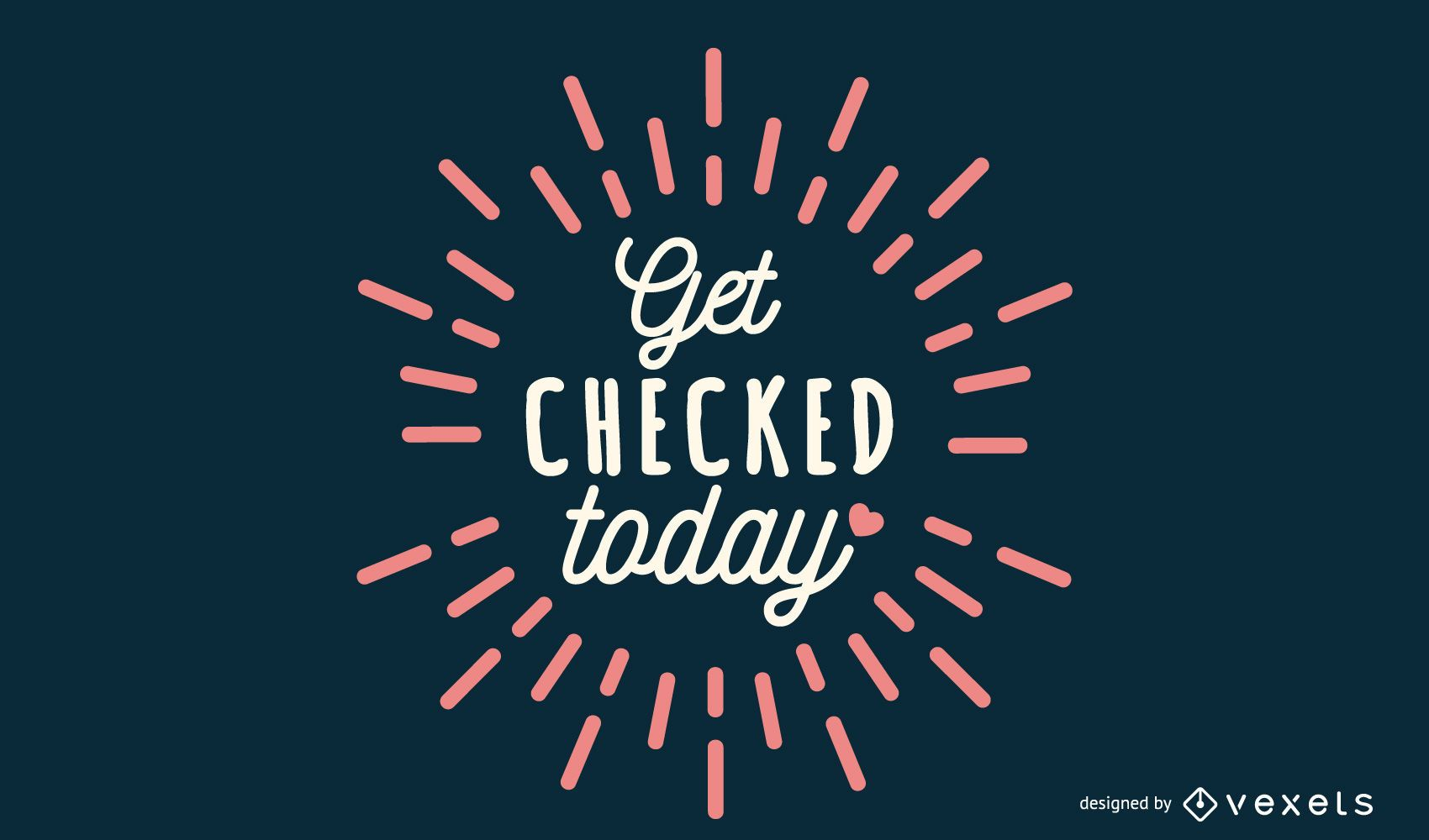 Get Checked Lettering Design