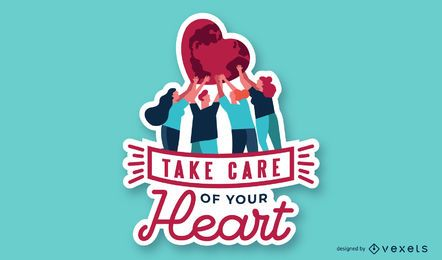 Take Care Of You Heart Illustration