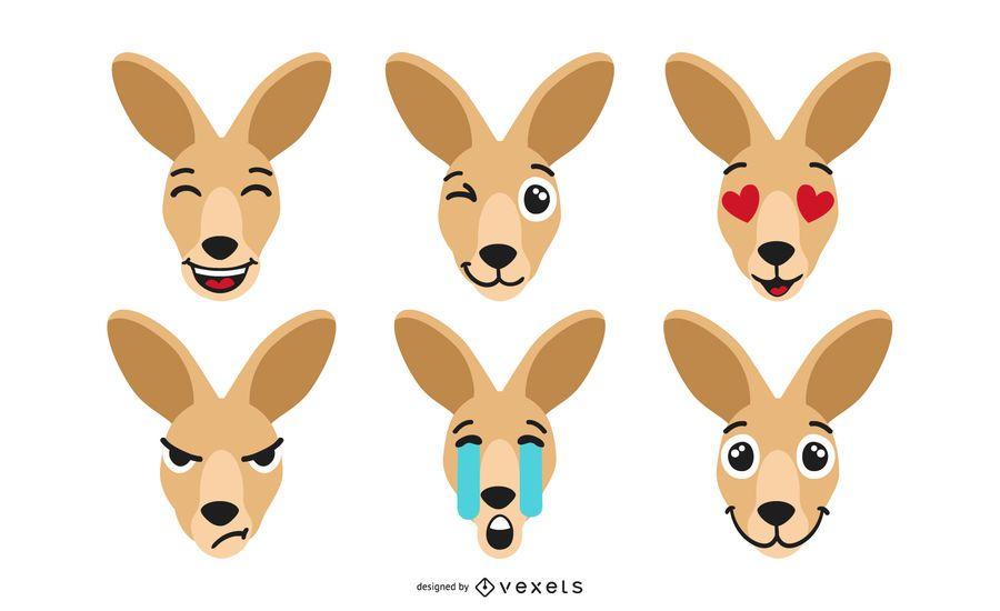 Kangaroo Emoji Set
