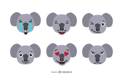 Koala Emoji Set
