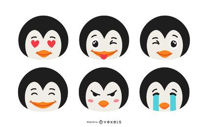 Pinguin Emoji Set