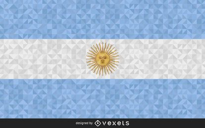 Argentina Flag polygonal Design