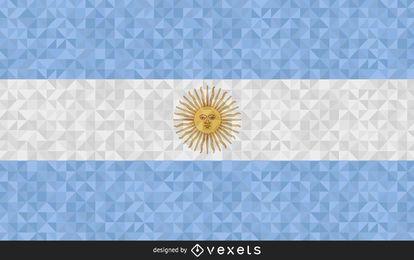 Bandera Argentina Diseño Abstracto