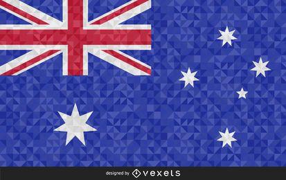 Flagge von Australien Geometric Design