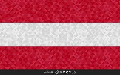 Design gráfico de bandeira de Áustria