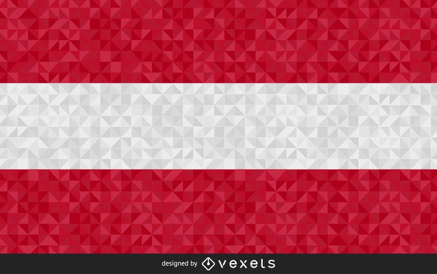 Bandera de austria diseño grafico