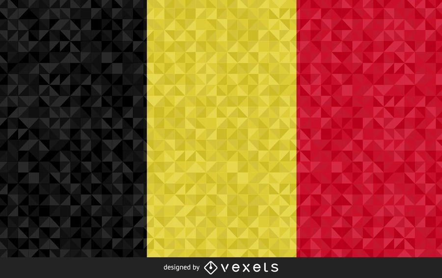 Bandera de Bélgica de diseño artístico.