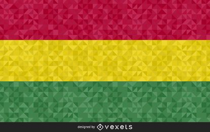 Diseño de vector de bandera poligonal