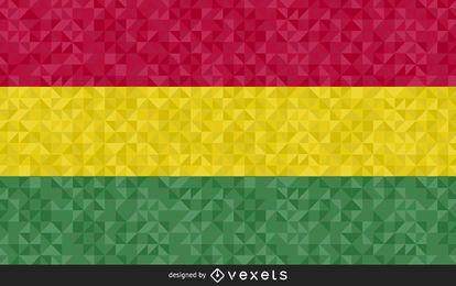 Projeto de vetor de bandeira poligonal