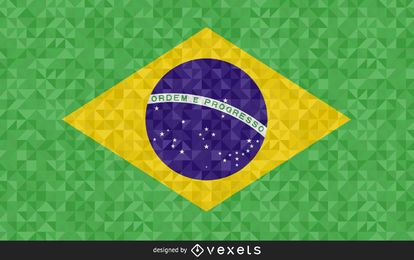 Brazil Flag polygonal Design
