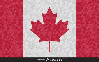 Canada Flag polygonal Design