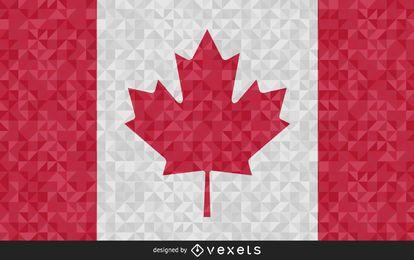 Diseño poligonal de la bandera de Canadá