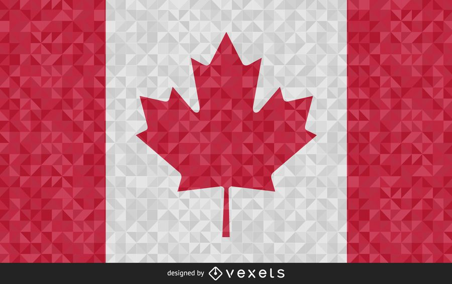 Bandera de Canadá Resumen Diseño