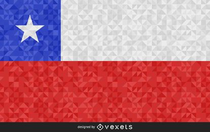 Chile Flag Abstract Design