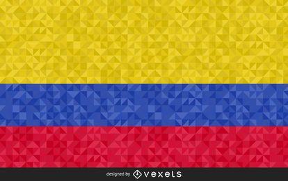 Design poligonal da bandeira da Colômbia