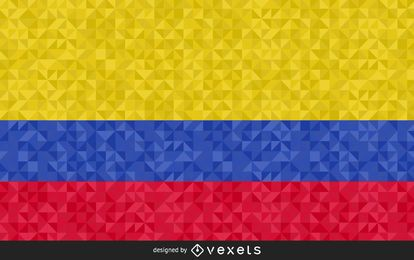 Flag of Colombia polygonal Design