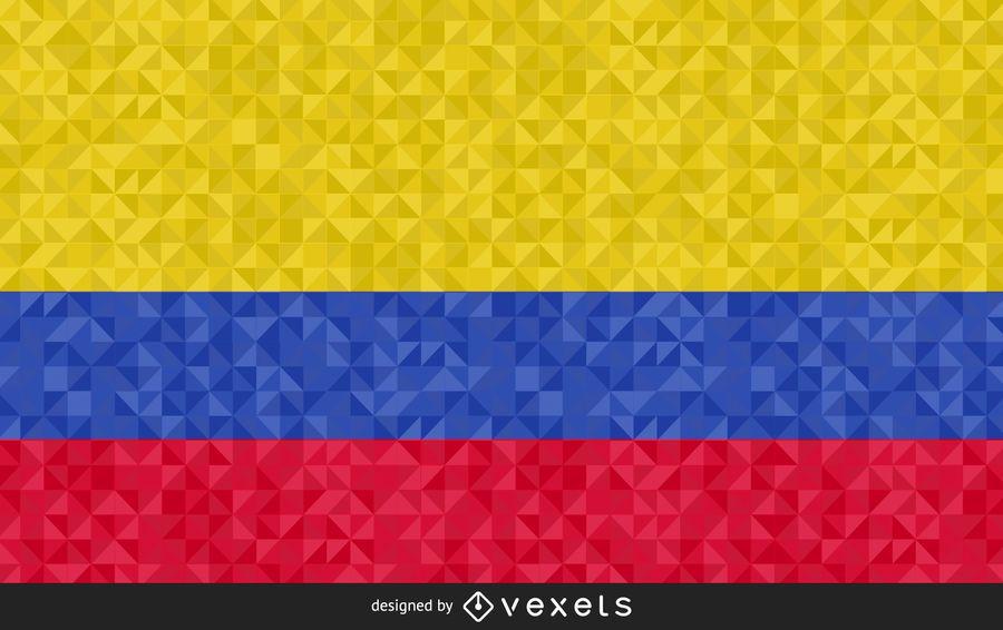 Bandera de Colombia diseño poligonal