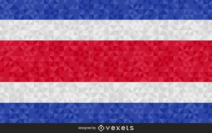 Flag of Costa Rica Abstract Design