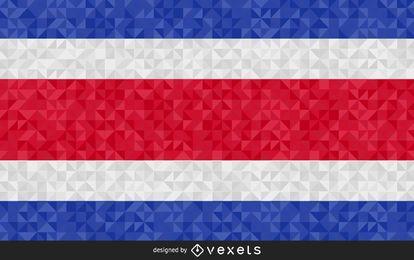 Flag of Costa Rica polygonal Design