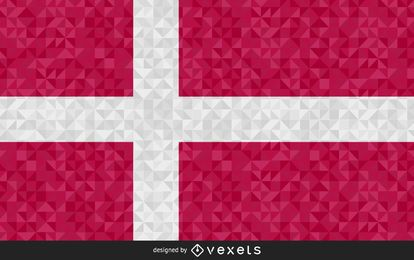 Flag of Denmark polygonal Design