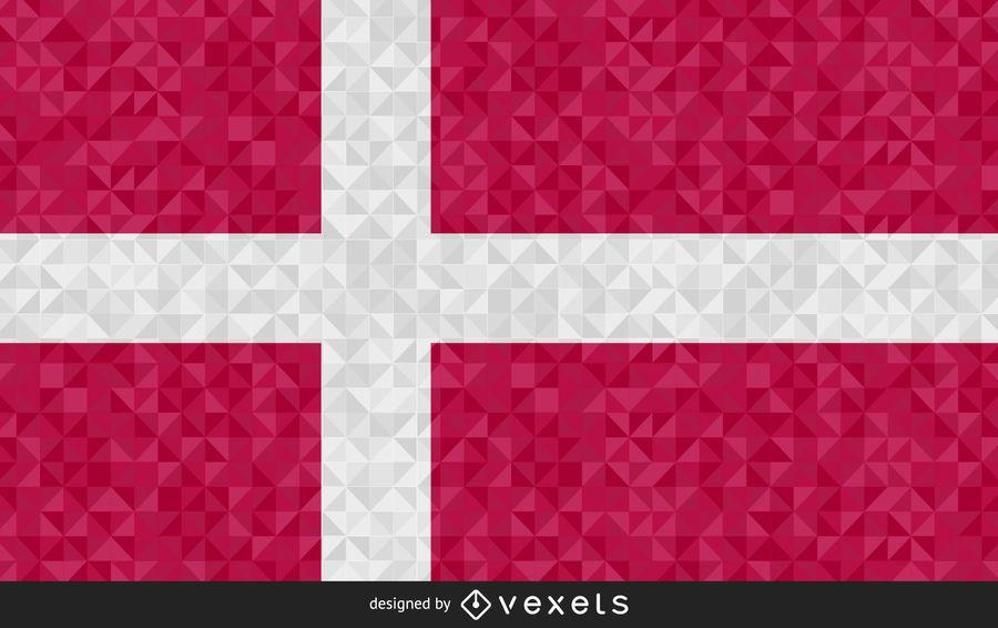 Bandera de diseño abstracto de Dinamarca