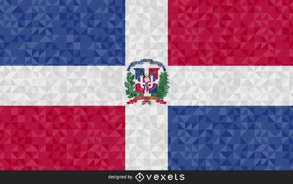 Bandera de República Dominicana Diseño Abstracto