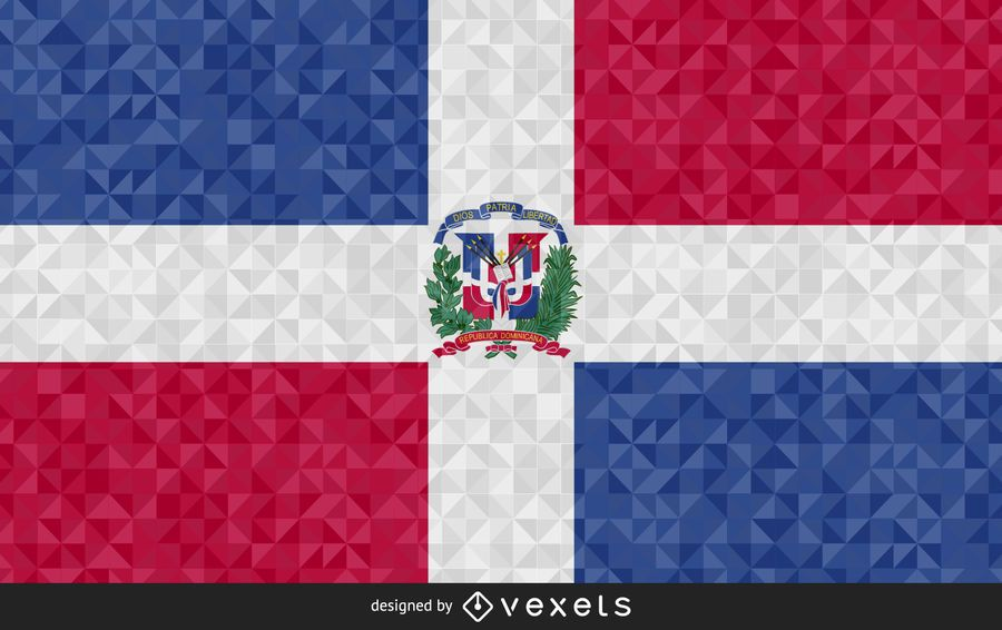 Flag of Dominican Republic Abstract Design