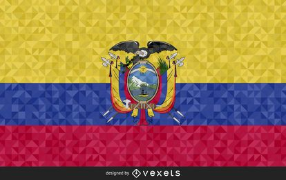 Design poligonal da bandeira do Equador