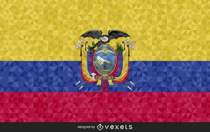 Flag of Ecuador polygonal Design