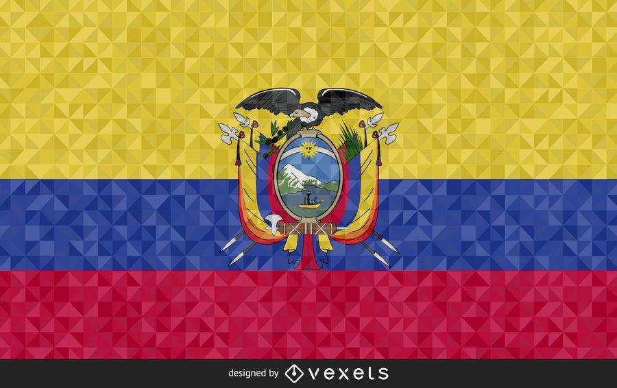 Bandera de Ecuador diseño poligonal