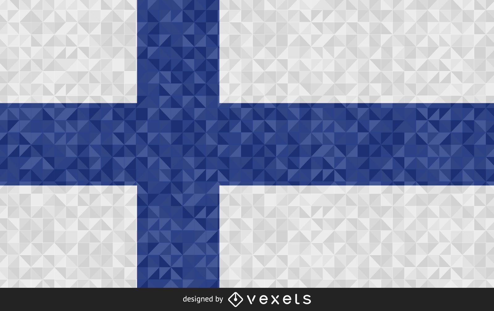 Bandera de Finlandia dise?o poligonal