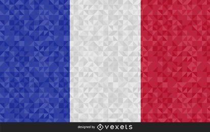 Bandera de Francia diseño poligonal