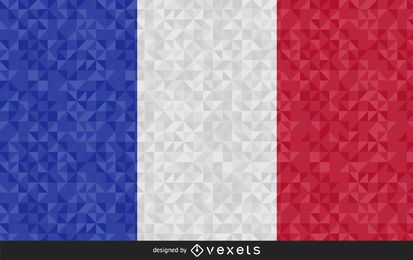 Flag of France Abstract Design