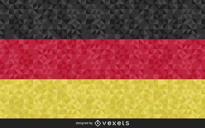 Design poligonal da bandeira da Alemanha