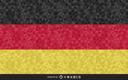 Flag of Germany polygonal Design