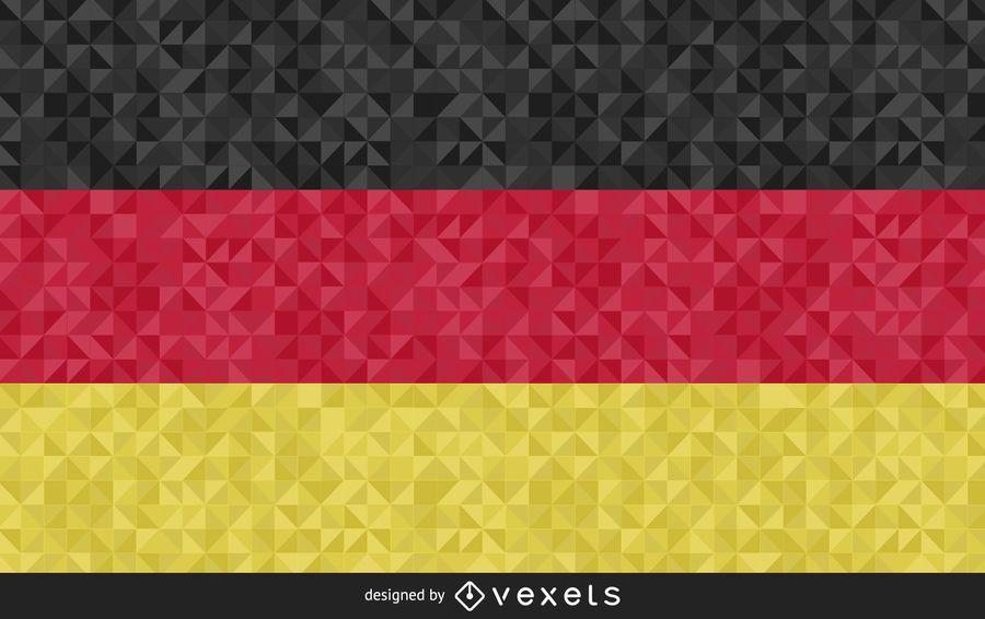Bandera de diseño poligonal de Alemania