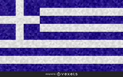 Flag of Greece Abstract Design