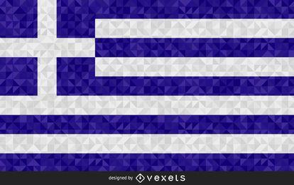 Flag of Greece polygonal Design