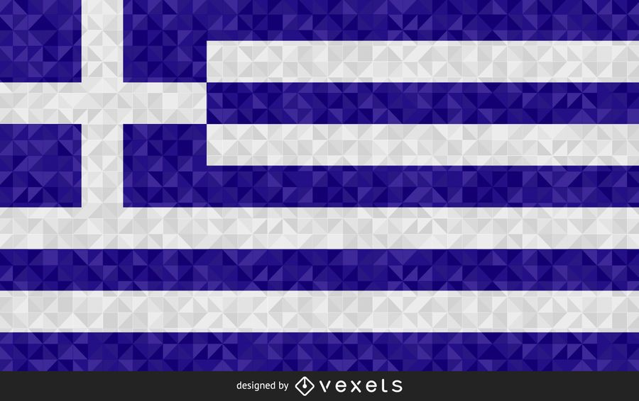 Bandera de diseño poligonal de Grecia