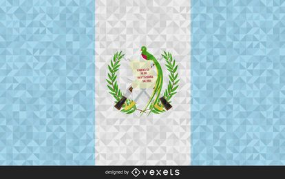 Guatemala Flag polygonal Design
