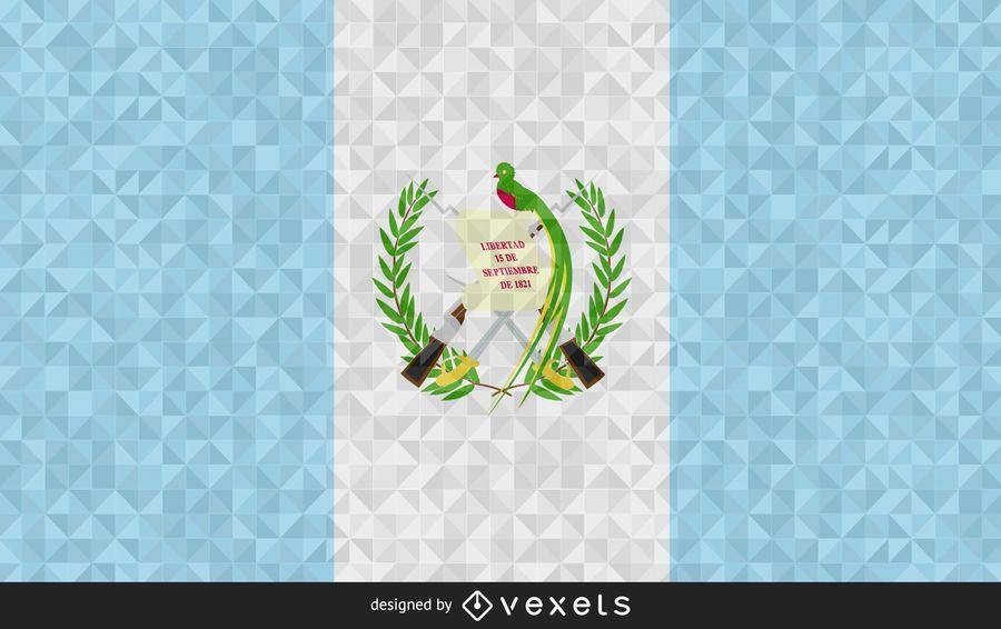 Diseño poligonal de la bandera de Guatemala