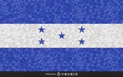 Bandeira do desenho abstrato de Honduras