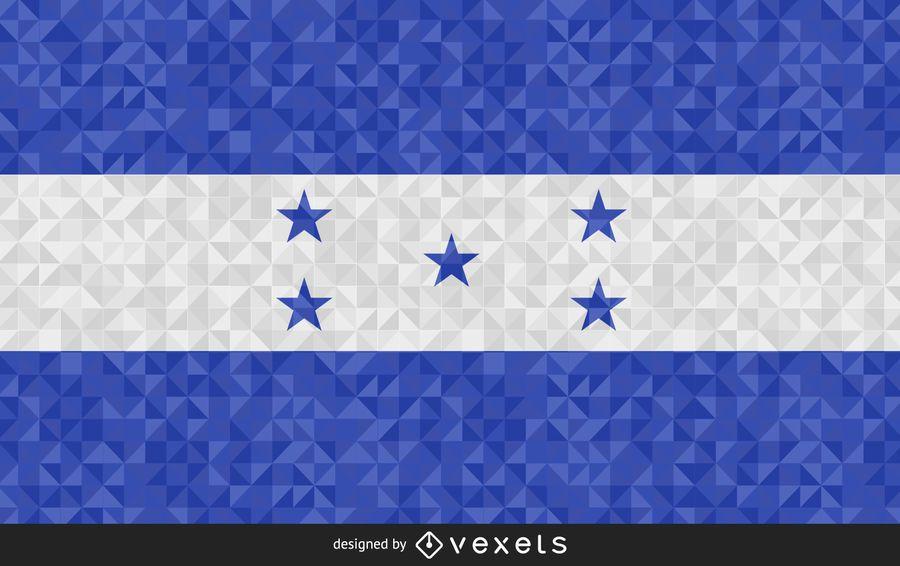 Bandera de diseño abstracto de honduras