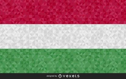 Bandeira do desenho abstrato de Hungria