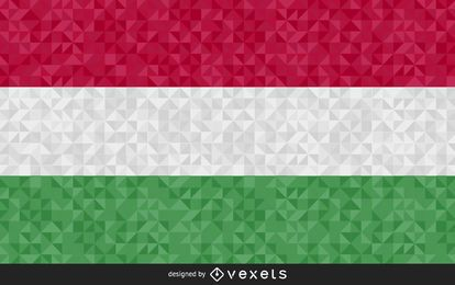 Flag of Hungary Abstract Design