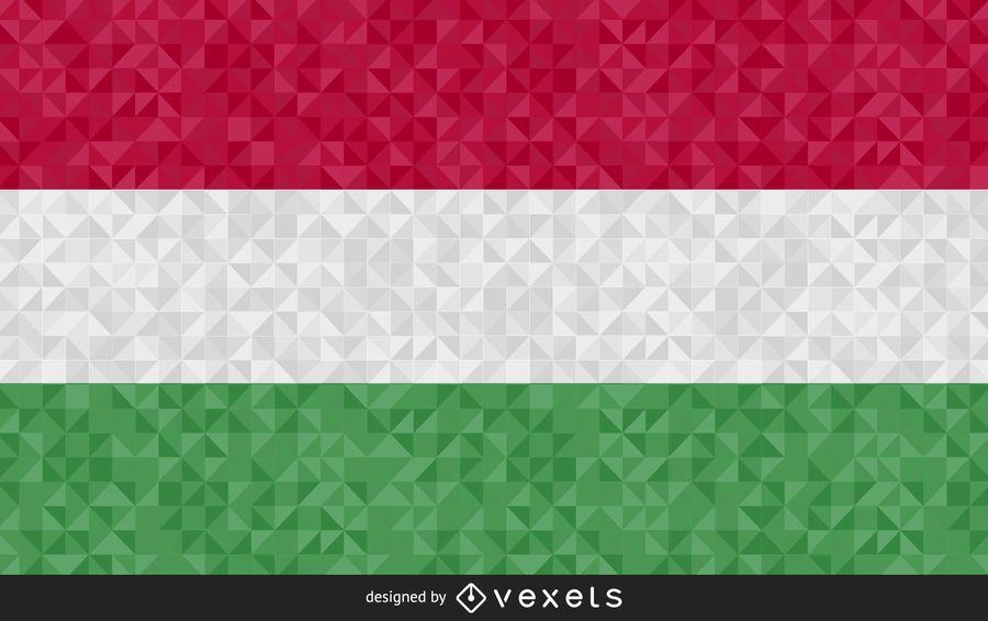 Bandera de Hungría diseño poligonal