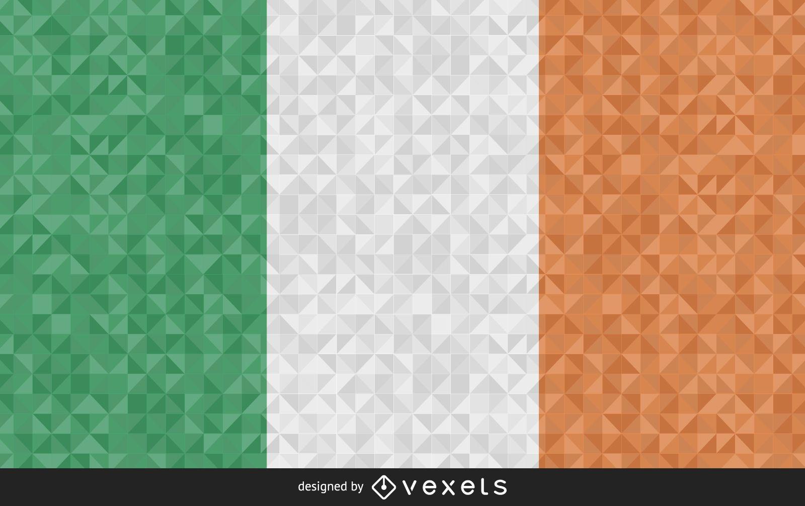 Bandera de Irlanda diseño poligonal