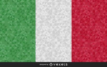 Design poligonal da bandeira da Itália