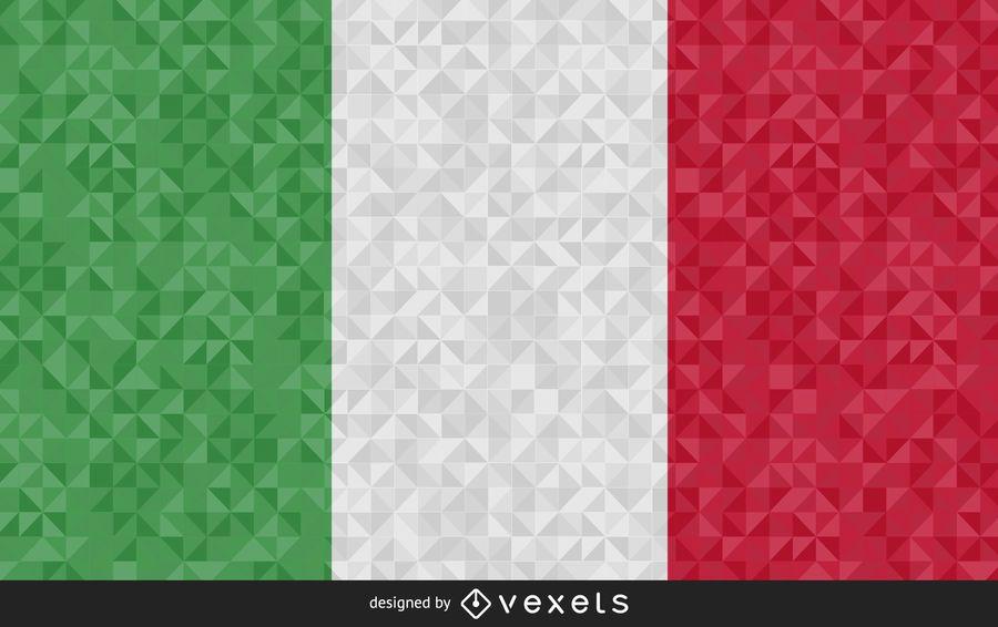 Bandera de diseño abstracto de Italia