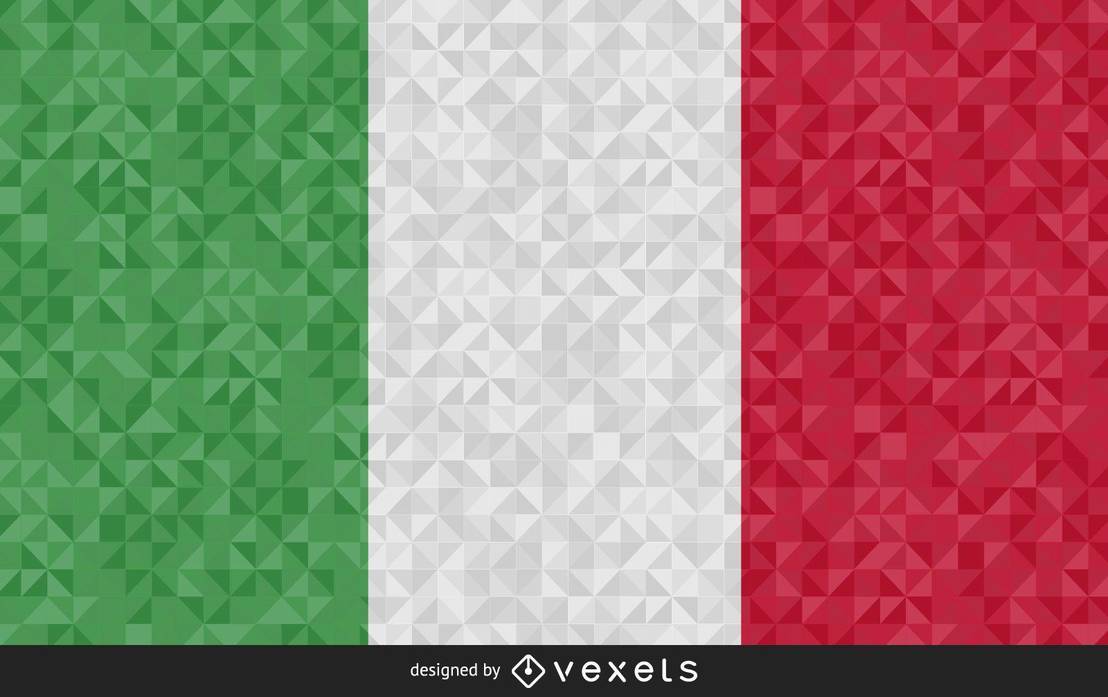 Flag of Italy polygonal Design